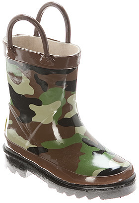 western chief Boys' Camo Rain Boot