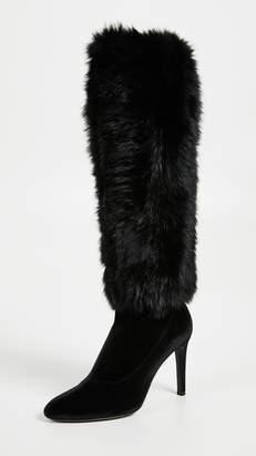 Giuseppe Zanotti Knee High Fur Boots
