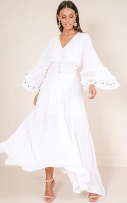 Showpo How I Wonder maxi dress in white