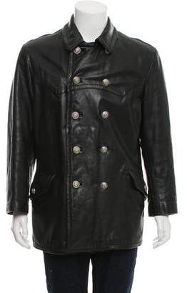 Dolce & Gabbana Double-Breasted Leather Jacket