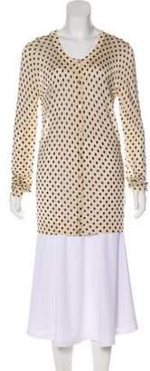 Dolce & Gabbana Polka Dot Long Sleeve Cardigan