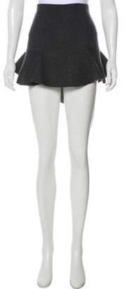 Isabel Marant Wool Mini Skirt Grey Wool Mini Skirt