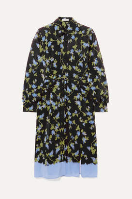 Altuzarra Strada Floral-print Silk Crepe De Chine Dress - Black