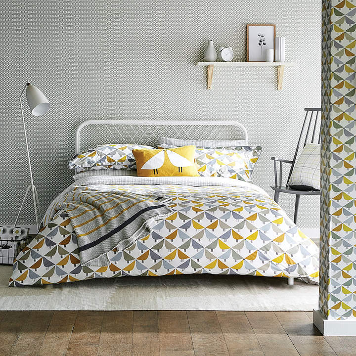 Scion - Lintu Duvet Cover - Dandelion & Pebble - King