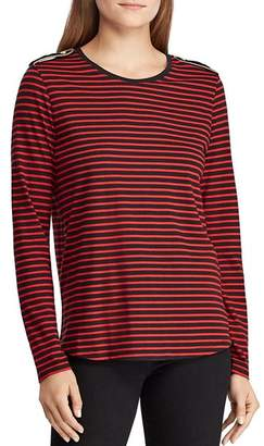 Ralph Lauren Epaulet Stripe Top