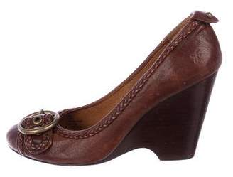 Frye Leather Wedge Pumps