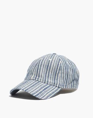Madewell Baseball Cap in Textural Stripe 4d35f9f35084