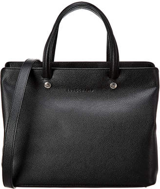 Longchamp Le Foulonne Leather Top Handle Tote