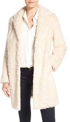 Women's Eliza J Faux Persian Lamb Coat $228 thestylecure.com