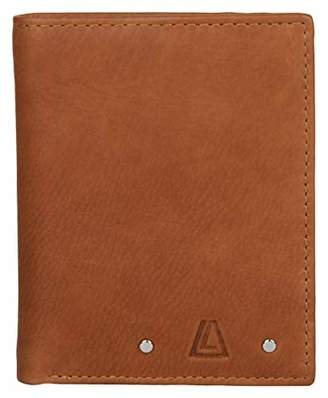Leather Architect Men's 100% Leather RFID Blocking Bifold Wallet with Back Zip and 6 Credit Card Slots ()