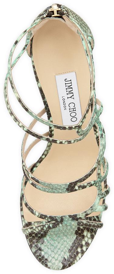 Jimmy Choo Sazerac Strappy Snake Sandal