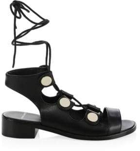 Pierre Hardy Penny Leather Wrap Sandals