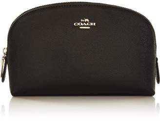 Coach Leather Cosmetic Case 17- Black
