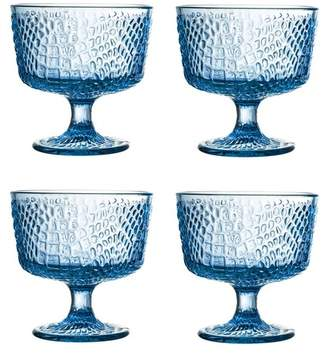 Jay Import Blue Bistro Croc Pedestal Bowl - Set of 4