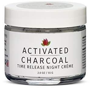 Reviva Labs Activated Charcoal Time Release Night Cream 55g/2oz - For All Skin Types