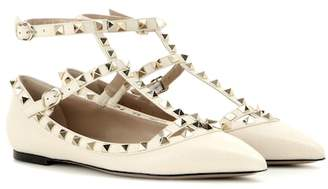 Valentino Rockstud leather ballerinas