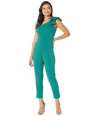 Adrianna Papell One Shoulder Jumpsuit with Bow Detail