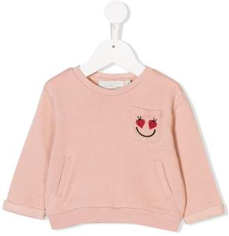 Stella McCartney embroidered chest pocket sweatshirt