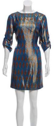 Tory Burch Silk & Metallic-Blend Evening Dress