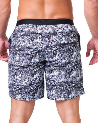 Maceoo Lion Direction Printed Swim Shorts