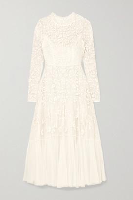Needle & Thread Bella Embellished Tulle Midi Dress - Ivory