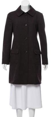Miu Miu Wool Patterned Coat