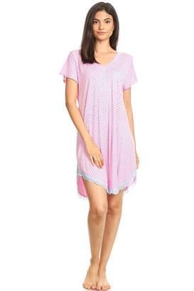 Lati Fashion 301 Womens Nightgown Sleepwear Cotton Pajamas - Woman  Sleeveless Sleep Dress Nightshirt Gray L 479fba92d