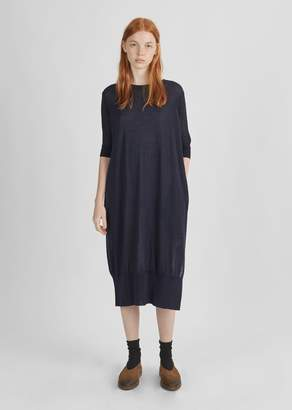 Y's Rib Sleeve Knit Dress Navy