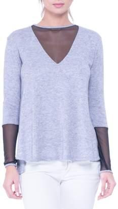Olian Valerie Mesh Detail Maternity Sweater