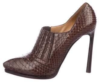 Lanvin Snakeskin Ankle Booties