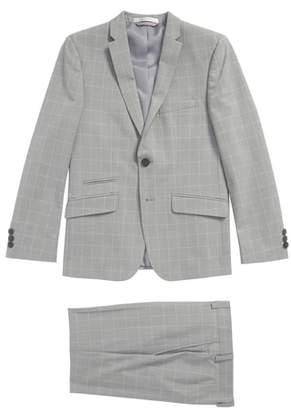 Andrew Marc Windowpane Skinny Fit Suit