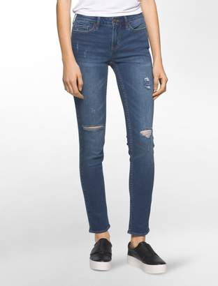 Calvin Klein ultimate skinny halsey ripped ankle jeans
