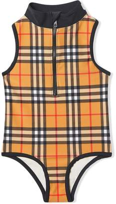 c971168621 Burberry Logo Detail Vintage Check One-piece Swimsuit