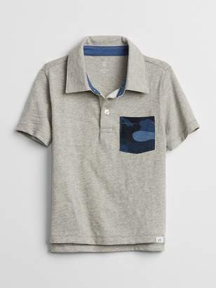 Gap Camo-Pocket Polo T-Shirt