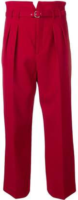 RED Valentino buckle fastening cropped trousers
