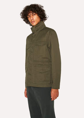 Paul Smith Men's Khaki Cotton-Linen Field Jacket