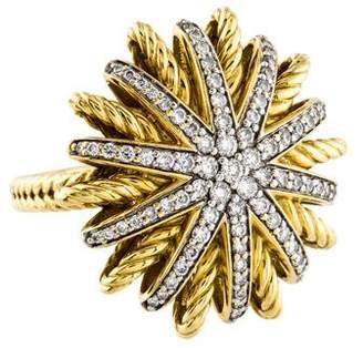 David Yurman 18K Diamond Starburst Ring