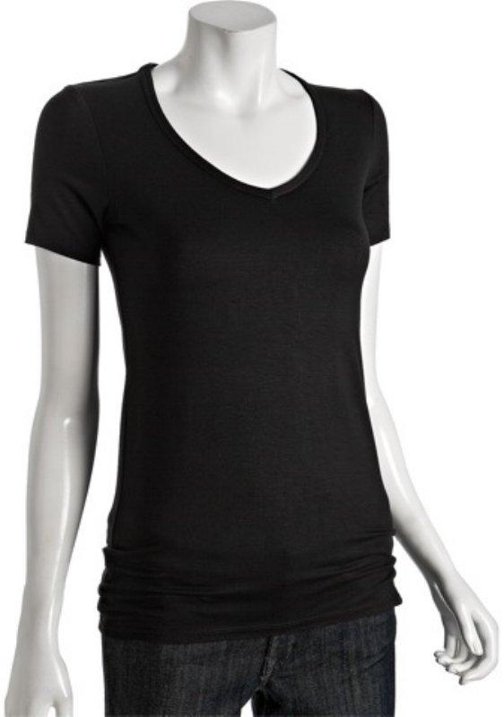Twenty black jersey v-neck short sleeve t-shirt