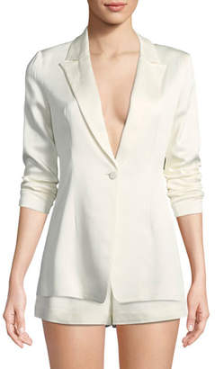 Alexis Blac One-Button Blazer