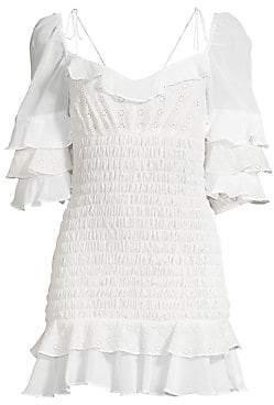 For Love & Lemons For Love& Lemons Women's Bora Bora Ruffled Mini Dress