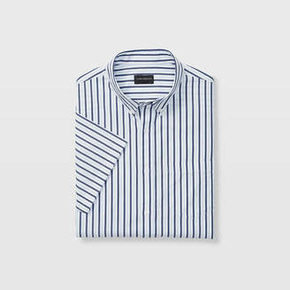 Club Monaco Slim Stripe Short-Sleeve Shirt