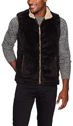 True Grit Men's Pebble Pile Double up Vest with Zip Pockets