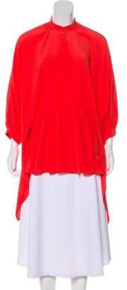 Hussein Chalayan Silk Short Sleeve Top