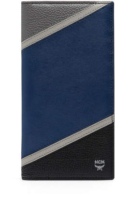 MCM Ottomar Long Two Fold Wallet In Chevron Leather