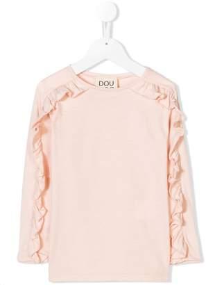 Douuod Kids frill sleeve T-shirt