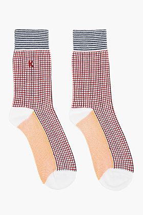 Kenzo Red & Navy Patterned Stretch Socks