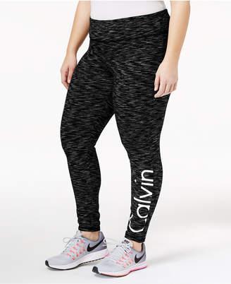 Calvin Klein Plus Size Metallic Logo Leggings