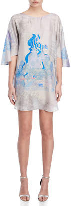 Save The Queen Printed Tunic Dress