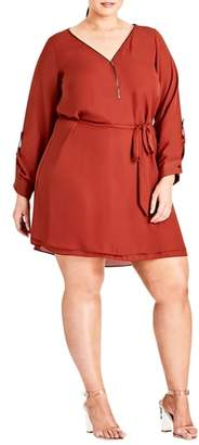 City Chic Zip Tunic Dress
