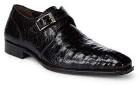 Mezlan Crocodile Slip-On Buckle Shoes